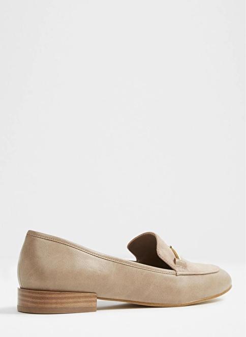Aldo Metal Detaylı Deri Loafer Ayakkabı Vizon